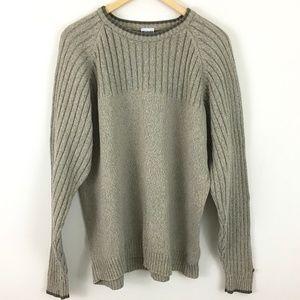 Columbia Men's Tan Crewneck Sweater size XL